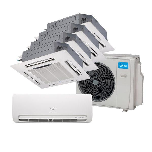 Ar-Condicionado-Multi-Split-Inverter-Springer-Midea-9000-e-Cassete-4-Vias-2x9000-e-12000-e-18000-BTU-h-Quente-e-Frio-38MBPA42M5-–-220-Volts