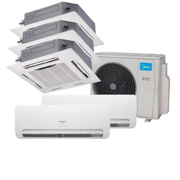 Ar-Condicionado-Multi-Split-Inverter-Springer-Midea-2x9.000-e-Cassete-4-Vias-9.000-e-12.000-e-18.000-BTU-h-Quente-e-Frio-38MBPA42M5-–-220-Volts