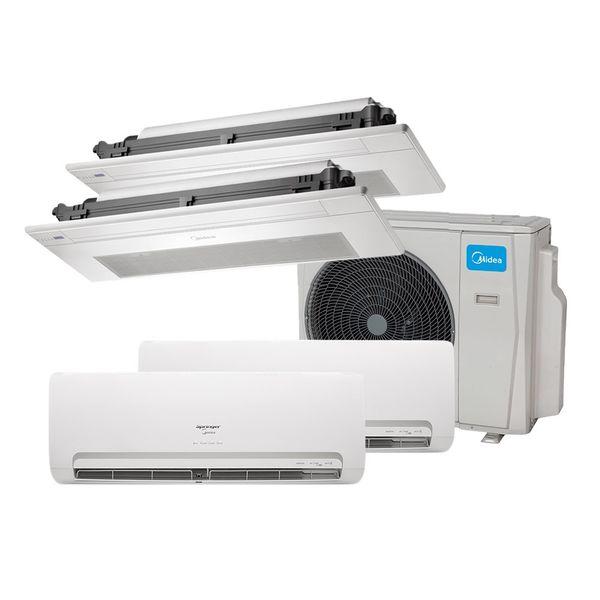 Ar-Condicionado-Multi-Split-Inverter-Springer-Midea-2x9.000-e-Cassete-1-Via-2x9.000-BTU-h-Quente-e-Frio-Monofasico-38MBMA36M5-–-220-Volts