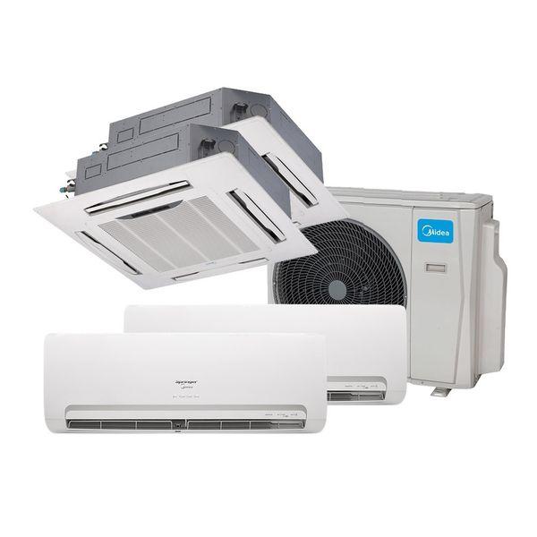 Ar-Condicionado-Multi-Split-Inverter-Springer-Midea-2x12.000-e-Cassete-4-Vias-2x9.000-BTU-h-Quente-e-Frio-Monofasico-38MBMA36M5-–-220-Volts