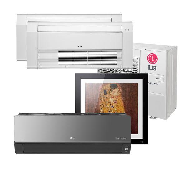 Ar-Condicionado-Multi-Split-Inverter-LG-Gallery-12.000-e-Artcool-9.000-e-Cassete-1-Via-12.000-e-18.000-BTU-h-Quente-e-Frio--A4UW30GFA2-–-220-Volts