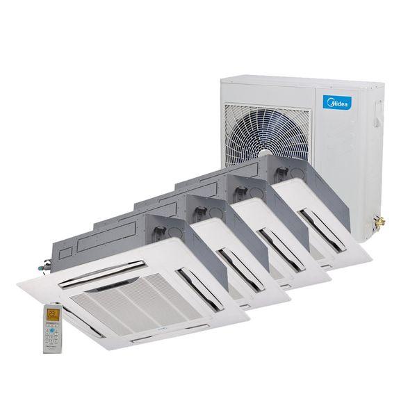 Ar-Condicionado-Multi-Split-Inverter-Springer-Midea-Cassete-4-Vias-4x9.000-BTU-h-Quente-e-Frio-Monofasico-38MBMA36M5-–-220-Volts