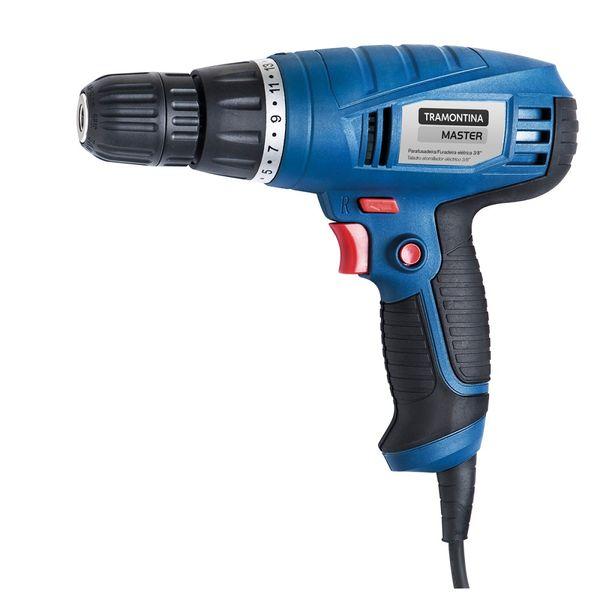 Parafusadeira-Furadeira-Tramontina-Azul-3-8--para-Uso-Profissional-com-Velocidade-Variavel-e-Sistema-de-Reversao-–-220-Volts