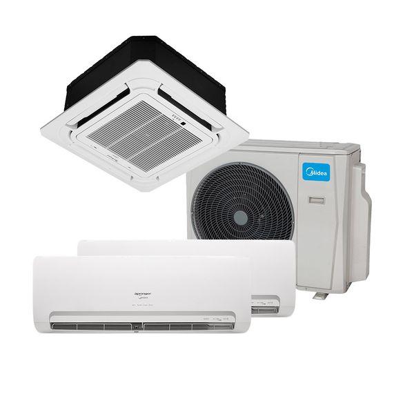 Ar-Condicionado-Multi-Split-Inverter-Springer-Midea-1x9.000-e-1x12.000-e-Cassete-4-vias-1x18.000-BTU-h-Quente-e-Frio-Monofasico-38MBTA27M5---220-Volts