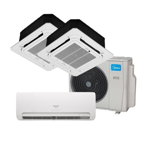 Ar-Condicionado-Multi-Split-Inverter-Springer-Midea-1x9.000-e-Cassete-4-vias-1x9.000-e-1x18.000-BTU-h-Quente-e-Frio-Monofasico-38MBTA27M5---220-Volts