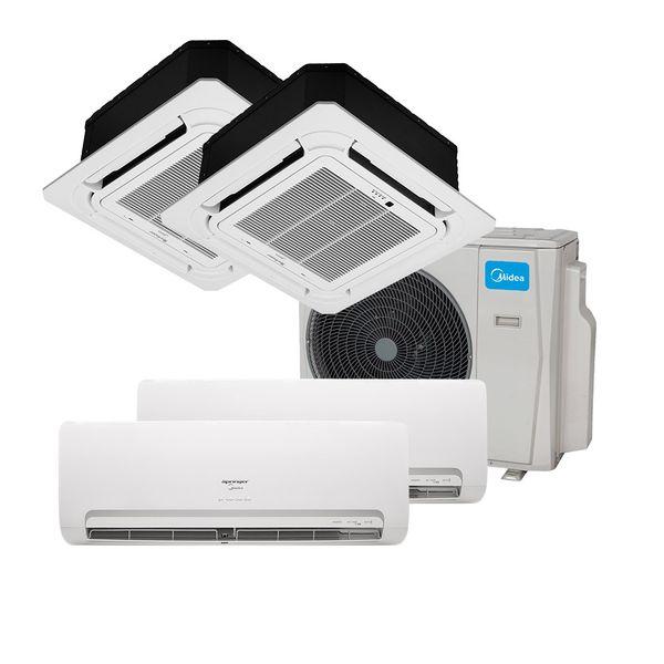 Ar-Condicionado-Multi-Split-Inverter-Springer-Midea-1x9000-e-1x12000-e-Cassete-4-vias-1x9000-e-1x12000-BTU-h-Quente-e-Frio-Mono-38MBMA36M5---220-Volts