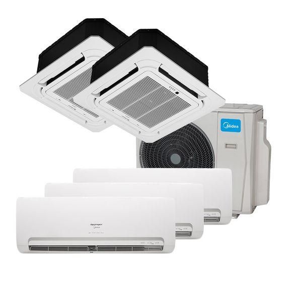 Ar-Condicionado-Multi-Split-Inverter-Springer-Midea-3x9.000-e-Cassete-4-Vias-2x9.000-BTU-h-Quente-e-Frio-Monofasico-38MBPA42M5---220-Volts