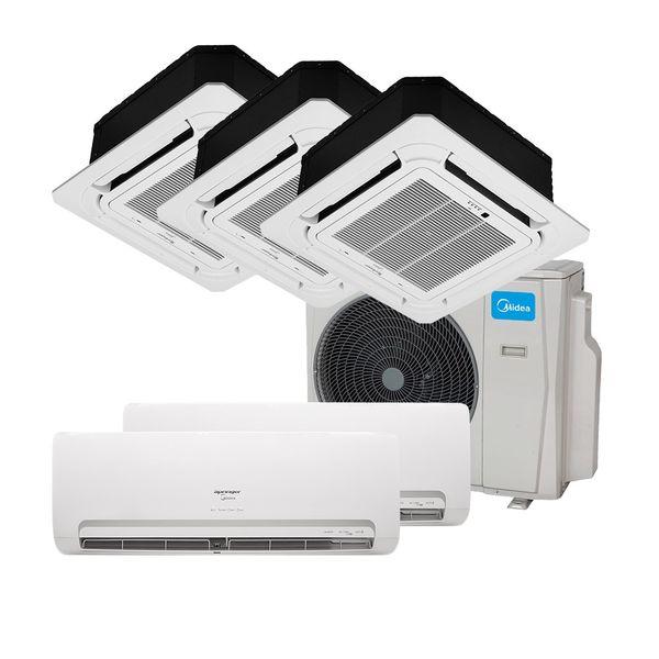 Ar-Condicionado-Multi-Split-Inverter-Springer-Midea-2x9.000-e-Cassete-4-Vias-2x9.000-e-1x18.000-BTU-h-Quente-e-Frio-Monofasico-38MBPA42M5---220-Volts