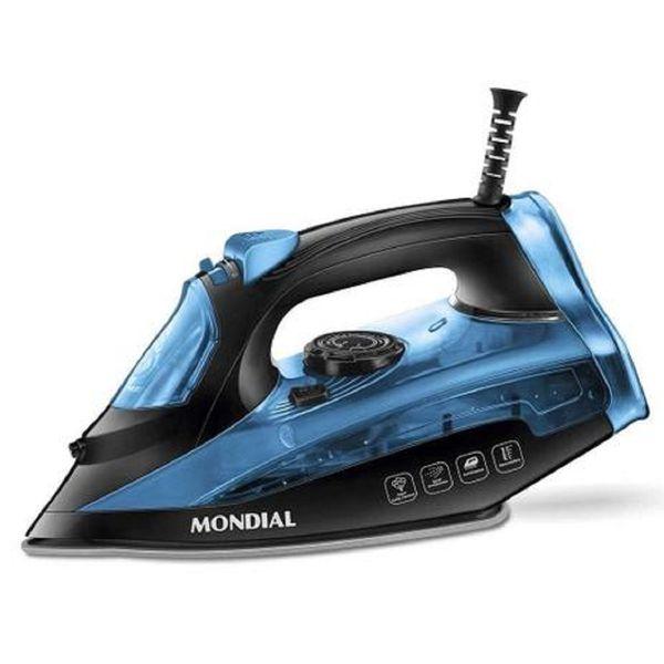 Ferro-a-Vapor-Mondial-1200W-Preto-Azul---127-Volts-