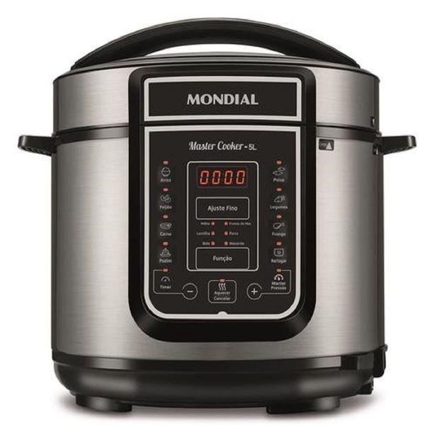Panela-de-Pressao-Eletrica-Digital-Mondial-5-Litros-Master-Cooker-Preto-Inox-PE-38---127-Volts